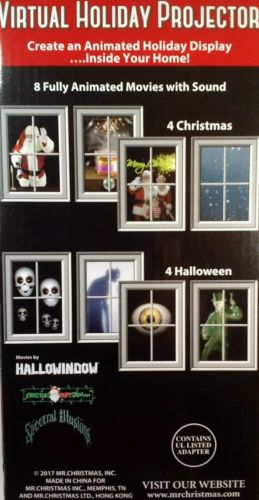 Mr Christmas Projector.Mr Christmas Virtual Holiday Projector Kit Model M61281