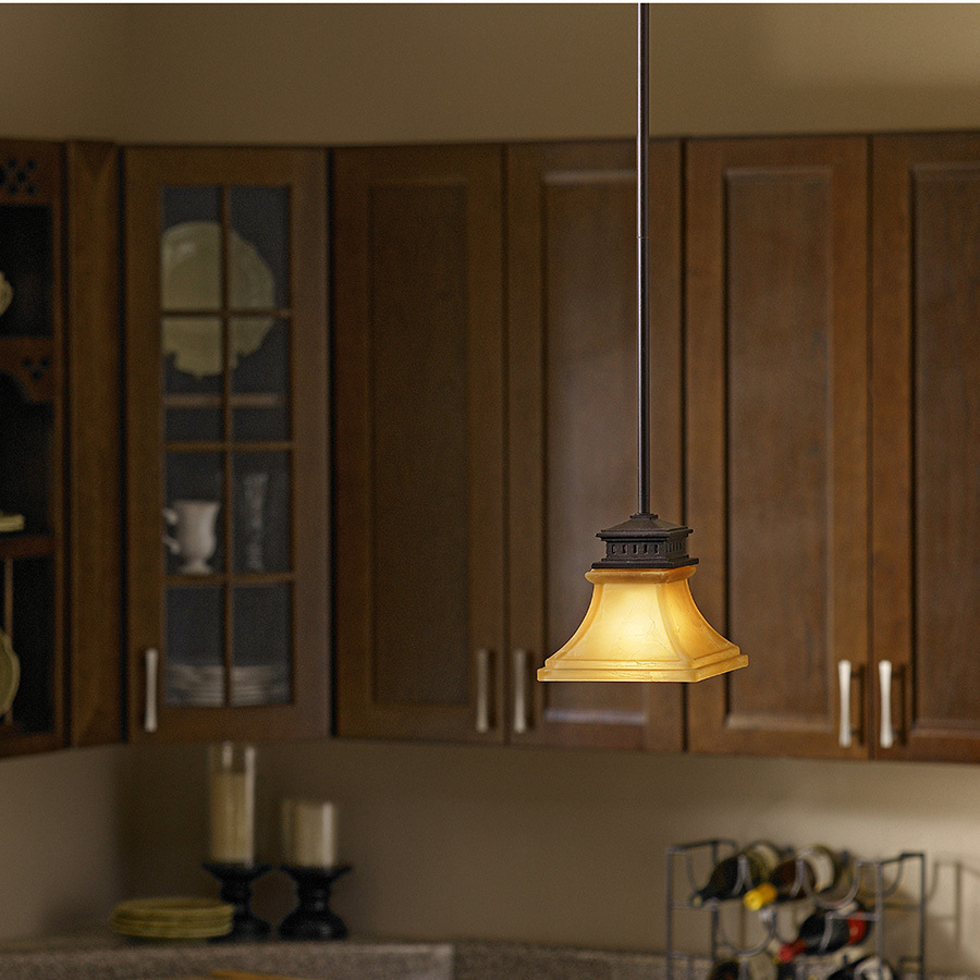 Light Fixtures Rochester Ny: 6.5-in Mini Etched Glass Bell Pendant