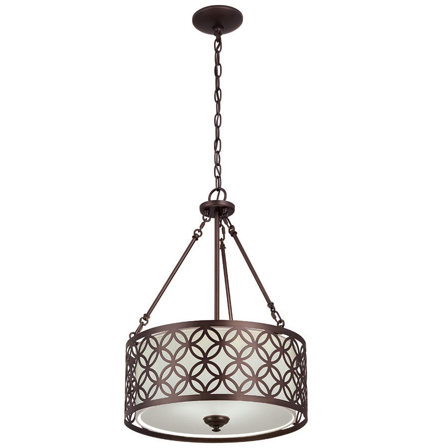 18 X 25 In Earling Traditional Drum Pendant Oil Rubbed Bronze Ch0100420 3