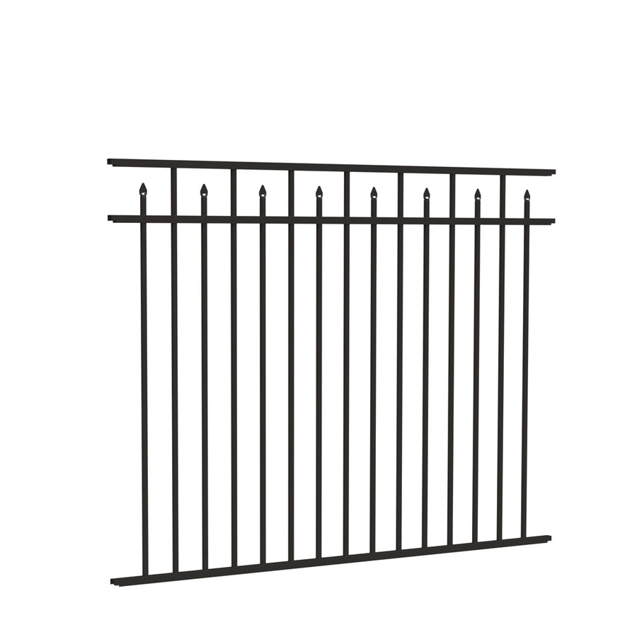 Freedom Aluminum Fencing 4 5 x 6-ft panels with posts - black Concord  73002354