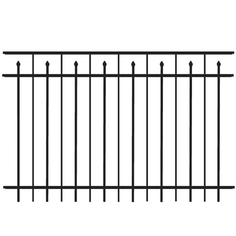 Freedom Aluminum Fencing 4 5 X 6 Ft Panels With Posts