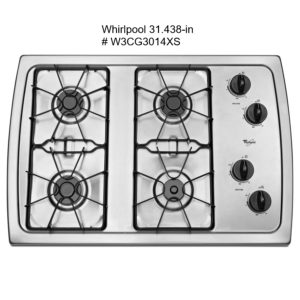 stock image 4 burner cooktop