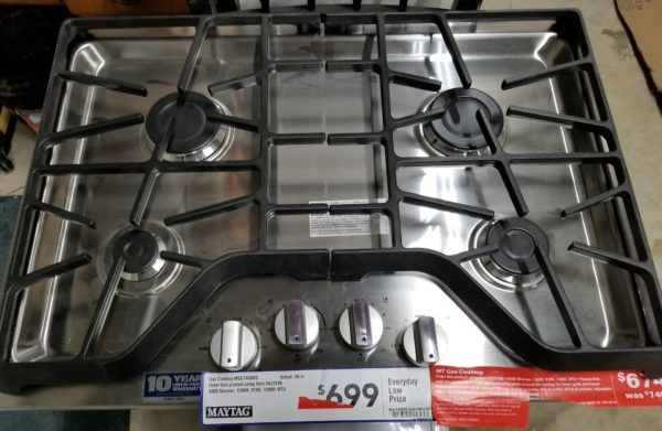 real cooktop top view