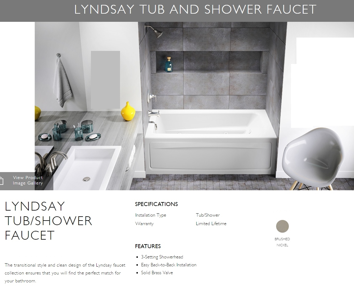 Bathtub And Shower Faucet With Valve Jacuzzi Lyndsay