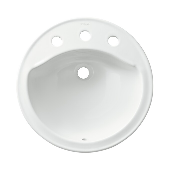 19 In Round Sterling Modesto Drop Bathroom Sink White 441908 0 Theclearanceman